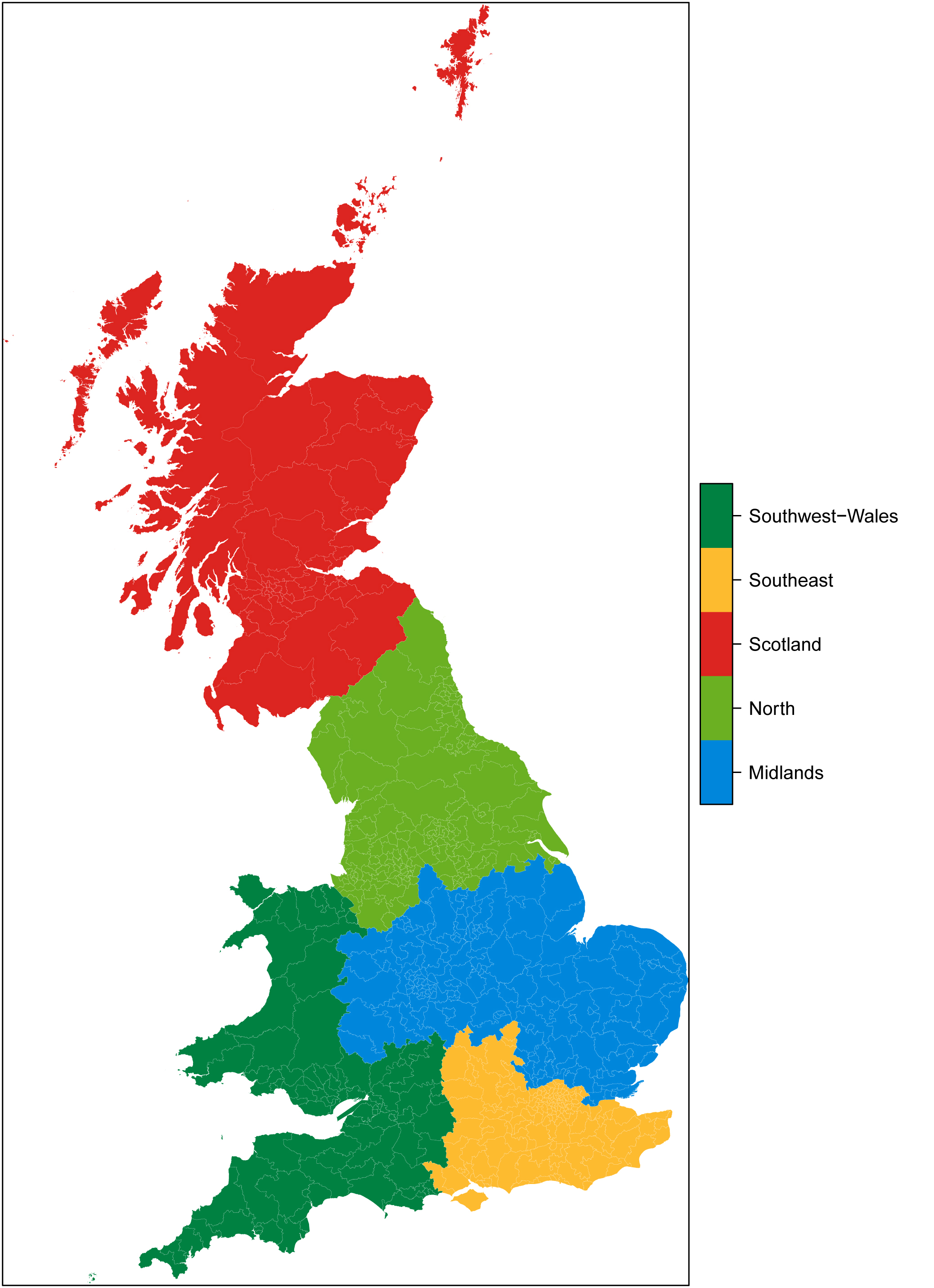 One Americans View of the British Election – 2015 Uk Election Map
